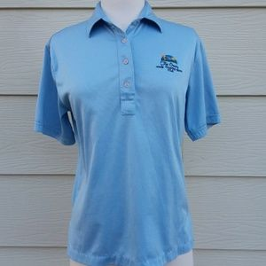VIintage Blue Womans Golf Polo Small 29